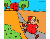 Coloring page Little red riding hood 3 painted bymindella