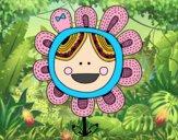 Coloring page Patchwork flower painted byTweedleDee