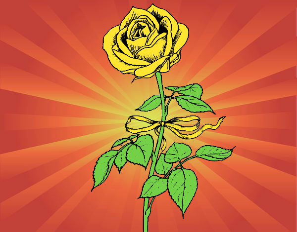 Coloring page A rose painted byAnia