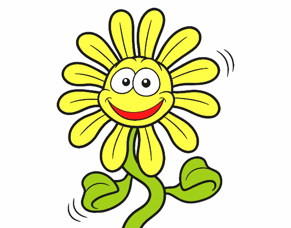 Colored page cheerful flower painted by user not registered for Cheerful nature