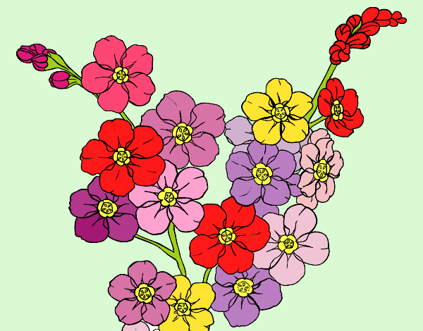 Coloring page Cherry tree flower painted byAnia
