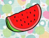 Coloring page A piece of watermelon painted byJeza