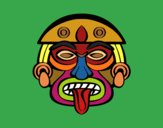 Coloring page Aztec mask painted byAish