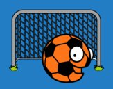 Coloring page Ball in goal painted byLexi882
