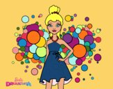 Coloring page Barbie Pink Princess painted byAish