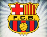 Coloring page F.C. Barcelona crest painted byLexi882