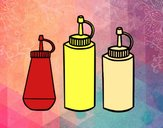 Ketchup ,mustard and mayonnaise