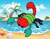 Scorpion sting with raised