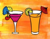 Coloring page Two cocktails painted byAish