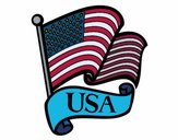 Coloring page U.S. Flag painted bySJames84