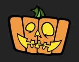 Coloring page Cheerful pumpkin painted byJijicream