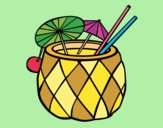 Coloring page Cocktail pineapple painted byJijicream
