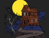 Coloring page Haunted house painted byJijicream