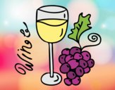 Coloring page Red wine painted byJijicream