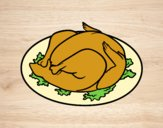 Coloring page Roasted chicken painted byJijicream