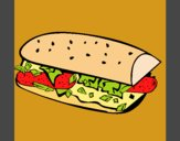Coloring page Sandwich painted byJijicream