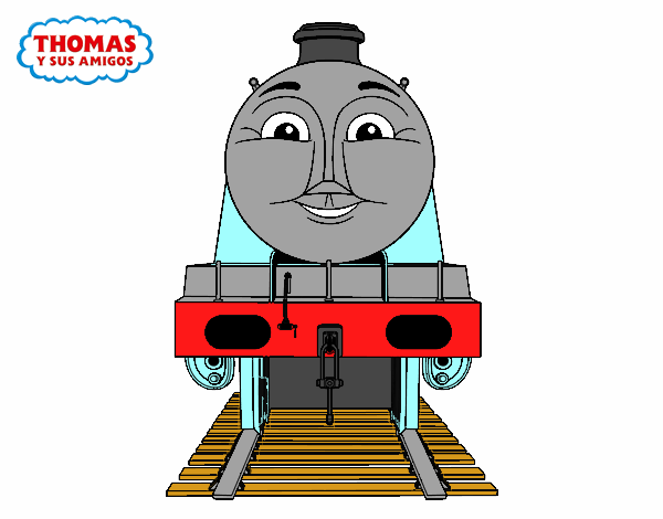Colored Page Gordon From Thomas And Friends Painted By User Not Registered