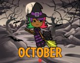 Coloring page October painted byLaLaLandie