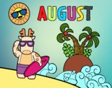 Coloring page August painted byGhada