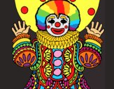 Coloring page Clown dressed up painted byLaLaLandie