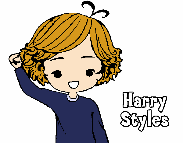 Colored page harry styles painted by user not registered for Harry styles coloring pages