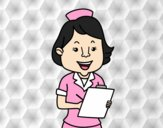 Coloring page Nurse smiling painted byGhada