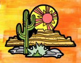 Coloring page Colorado Desert painted bydlove