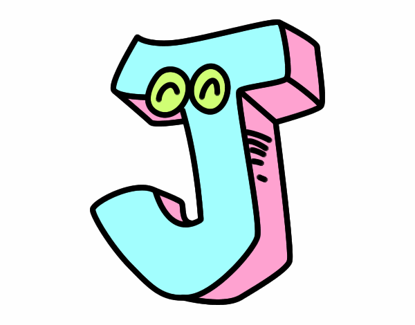 Colored Page Letter J Painted By User Not Registered