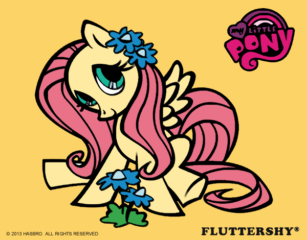 colored page fluttershy painted by jijicream. Black Bedroom Furniture Sets. Home Design Ideas