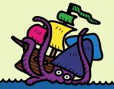Coloring page Kraken painted byJijicream