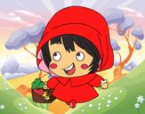 Coloring page Little Red Ridinghood painted byJijicream