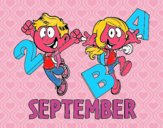 Coloring page September painted byElsie-may