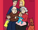 Coloring page Family  painted byAveta