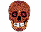 Coloring page Mexican skull painted byAveta