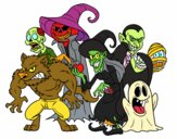 Coloring page Halloween Monsters painted byjojo1pa