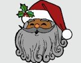 Coloring page Santa Claus face painted bySkmpyUncrn