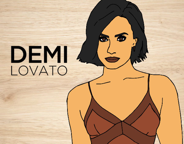 demi lovato coloring pages - colored page demi lavoto painted by user not registered