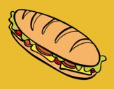 Coloring page Full sandwich painted byAnia