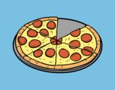 Coloring page Italian pizza painted byAnia