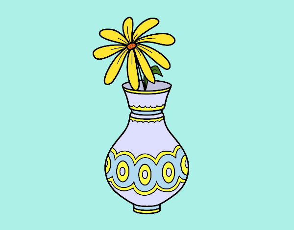 Coloring page A flower in a vase painted bybarbie_kil