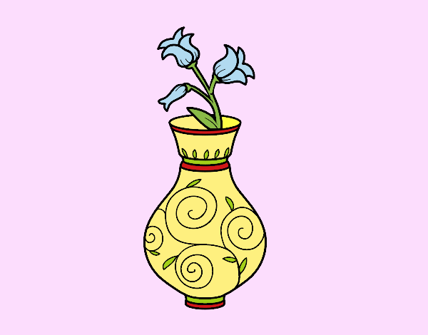 Coloring page Bellflower in a vase painted bybarbie_kil