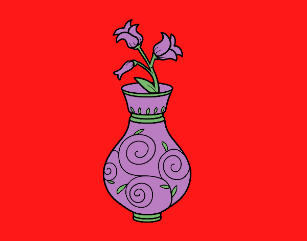 Coloring page Bellflower in a vase painted byCharlotte