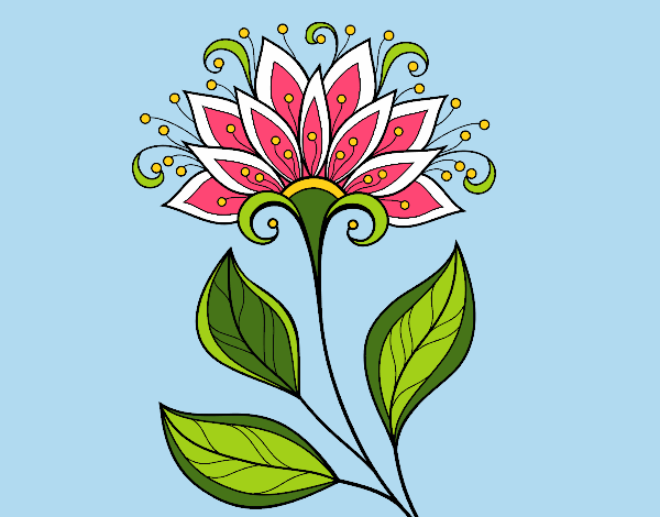 Coloring page Decorative flower painted bybarbie_kil