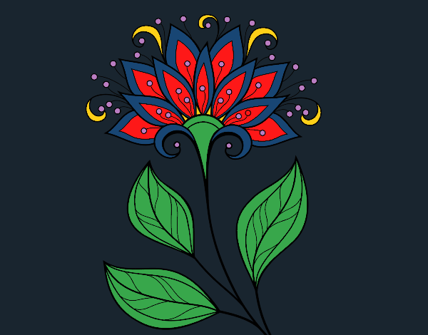 Coloring page Decorative flower painted byCharlotte