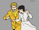 Coloring page Just married painted byAnia