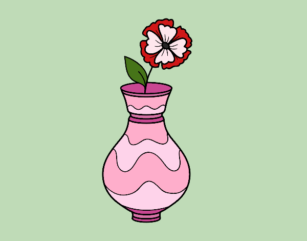 Coloring page Poppy with vase painted bybarbie_kil