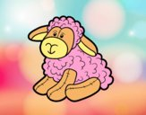 Coloring page Stuffed sheep painted byrabid