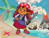 Coloring page The pirate girl painted byrabid