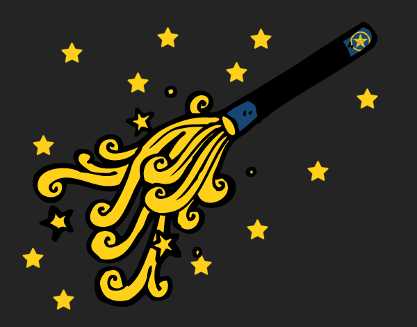 Coloring page Wizard Wand painted byCharlotte