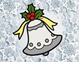 Coloring page Xmas bell painted bySassy